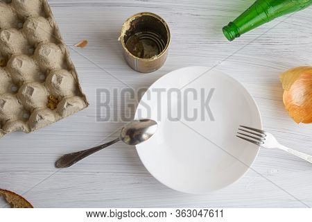 Food And Supplies Are Over, There Is Only Garbage And Empty Cans Left, There Is Nothing To Eat, An E