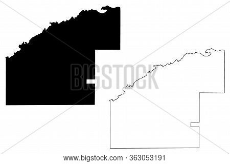 Jeff Davis County, Georgia (u.s. County, United States Of America,usa, U.s., Us) Map Vector Illustra