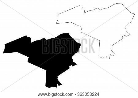 Johnson County, Georgia (u.s. County, United States Of America,usa, U.s., Us) Map Vector Illustratio