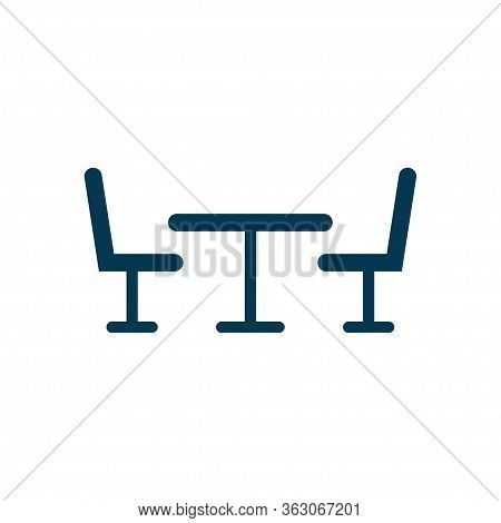 Table And Chairs Icon Isolated On White Background. Vector Illustration