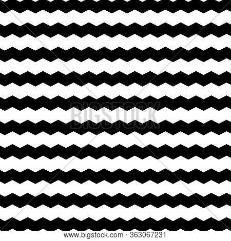 Black And White Zigzag Background. Chevron Zigzag Background. Vector Illustration