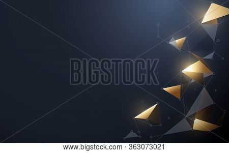 Abstract Futuristic Background. Molecules Technology With Polygonal Shapes. Connection Network Conce