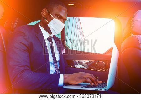 Handsome Successful Rich African American Business Men Entrepreneur In A Stylish Black Suit And Tie