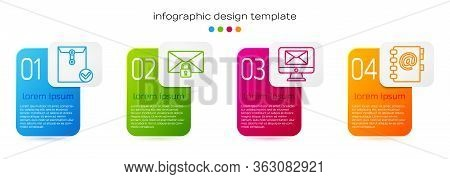Set Line Envelope And Check Mark, Mail Message Lock Password, Monitor And Envelope And Address Book.