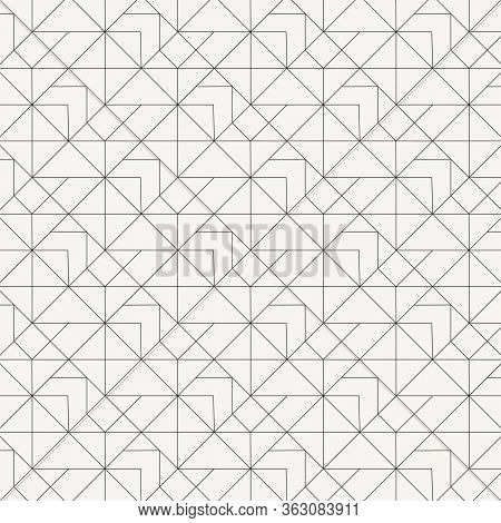 Geometric Vector Pattern, Repeating Linear Diamond Shape And Triangle Shape, Basket Weave Styles, Pa