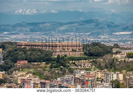 Naples, Italy, March 2018: Aerial View Of National Museum Of Capodimonte, Located In The Royal Palac