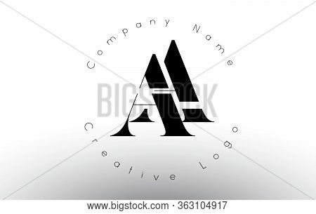 Letters Aa  A Logo With A Minimalist Design. Simple Aa Icon With Circular Name Pattern. Creative Sta