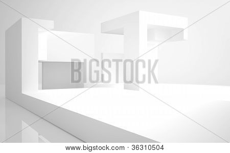 Abstract Architecture. abstract white building on a white background.