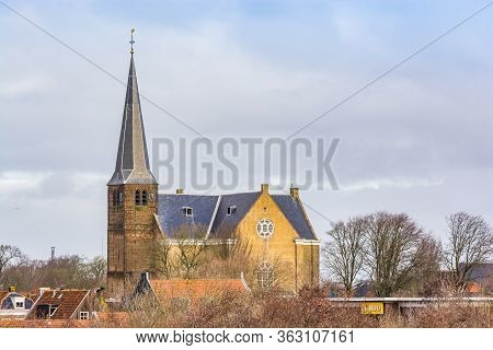 Harlingen, Netherlands - January 10, 2020. Grote Kerk - One Of The Churches