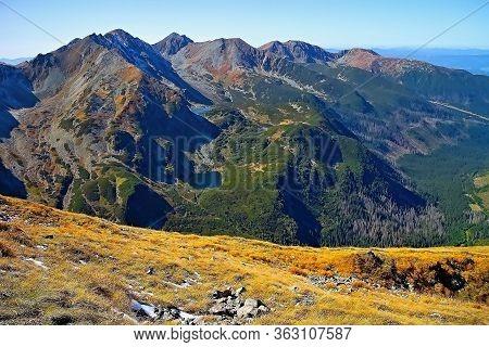 Rohacske Lakes And Peaks Tri Kopy, Hruba Kopa, Pachola, Spalena And Banikov.