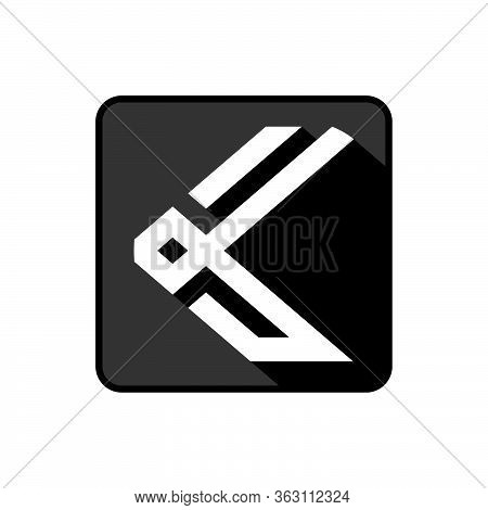 Initial Letter K Icon Or Logo Template With Modern Alpha Symbol In Flat Design Pictogram Illustratio