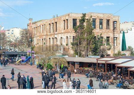 Istanbul, Turkey - January 20 2013: Esma Sultan Mansion, A Historical Mansion By Bosphorus In Ortako