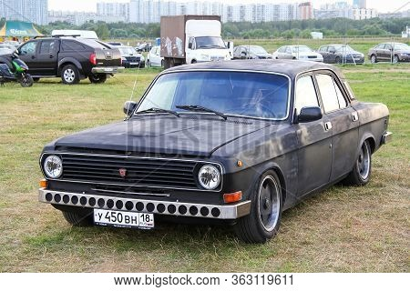 Moscow, Russia - July 6, 2012: Soviet Saloon Car Gaz 2410 Volga Presented At The Annual Motorshow Au