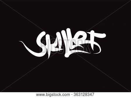 Skillet Lettering Text. Modern Calligraphy Style Vector Illustration.