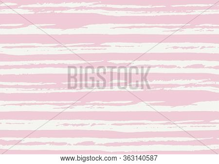 Vector Seamless Pattern With Hand Drawn Rough Textured Brush Strokes And Stripes Hand Painted.