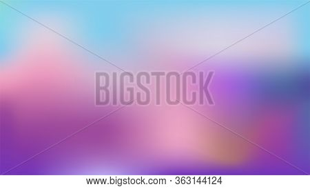 Blurred Gradient. Soft Transition Of Colors. Abstract Vector Resizable Background. Violet And Blue A