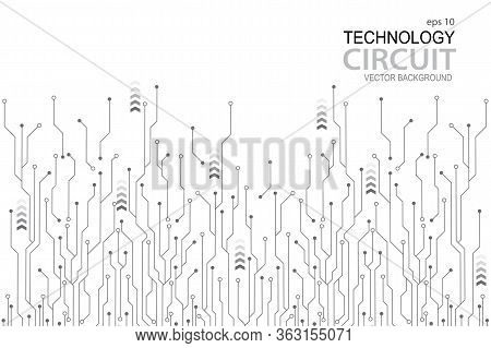Abstract Futuristic Circuit Board Illustration,  Circuit Board With Various Technology Elements. Cir
