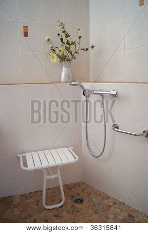 Bathroom shower for Disabled
