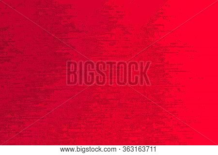 Saturated Red Background With An Abstract Pattern.