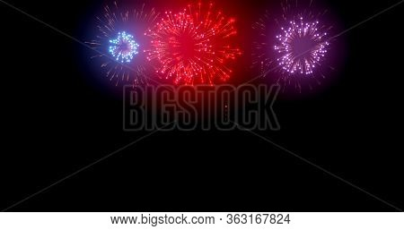 Abstract Background Of Spectacular Fireworks And Fantastic Wonderful Firework