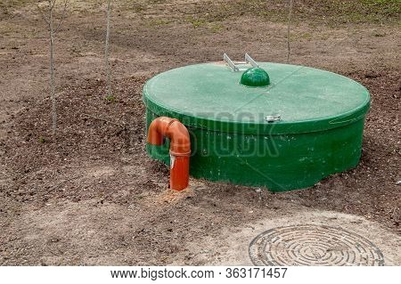 Septic Tank Installation, Water Treatment Tank In Park