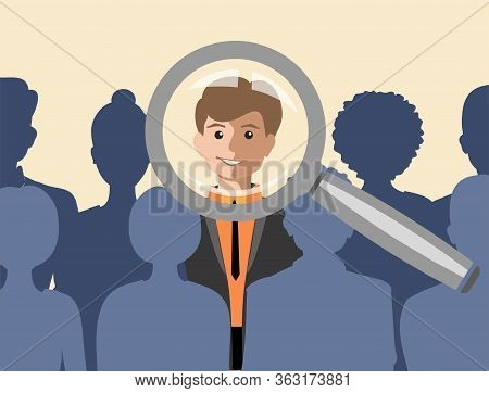 Job Interview, Recruitment Agency Vector Illustration. Recruitment Concept Set. Idea Of Employment A