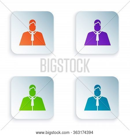 Color Lawyer, Attorney, Jurist Icon Isolated On White Background. Jurisprudence, Law Or Court Icon.