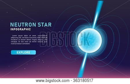Infographic Template For Business And Science. Modern Neutron Star Banner Vector.
