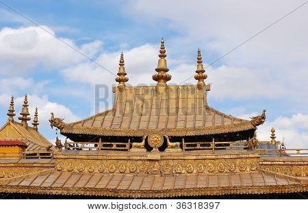 Beautiful Tibetan Temple Roof