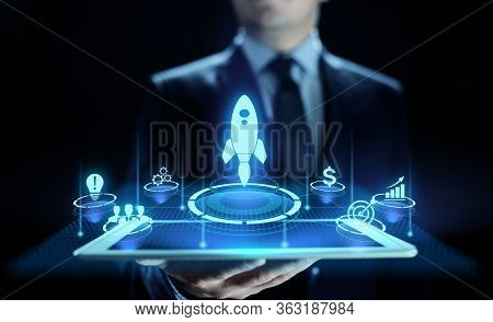Business Start Up Venture Investment Business And Development Concept.