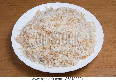 Portion Of A Steam Rice