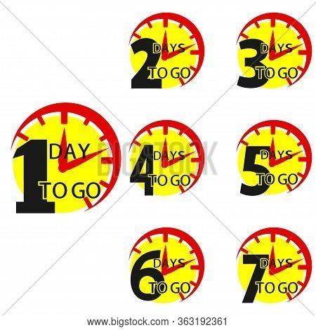 Number 1, 2, 3, 4 5 6 7 8 9 10 Of Days Left To Go. Number Of Days Left To Go Countdown For Sale, Pro