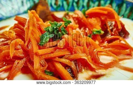 Beets  Carrots With Cumin  Haydari, Turkish Meze Of Strained Yogurt, Herbs And Garlic