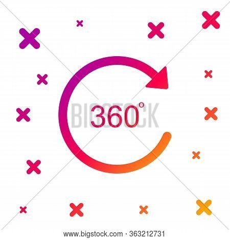 Color Angle 360 Degrees Icon Isolated On White Background. Rotation Of 360 Degrees. Geometry Math Sy