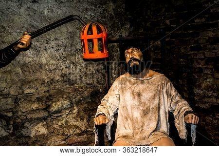 Hunedoara, Romania - September 11, 2019: Hunedoara Museum Of Archeology, History And Ethnography. To