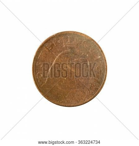 100 Austrian Krone Coin (1924) Reverse Isolated On White Background