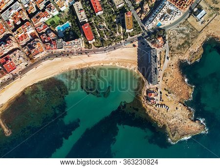 Aerial Panorama Of Torrevieja Cityscape. Costa Blanca. Spain