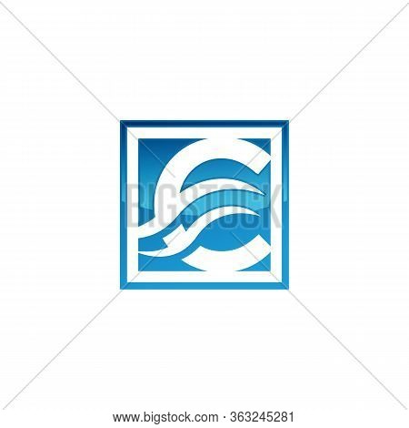C Letter Logo With Wave Arrow. C Letter Creative Modern Alphabet Logo Vector. C Letter Logo. Busines