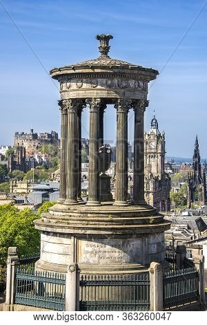 The Dugald Stewart Monument, Built In 1831, Is A Memorial To The Scottish Philosopher Dugald Stewart