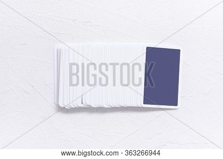 Blank Tarot Cards With Copy Space On The White Background.
