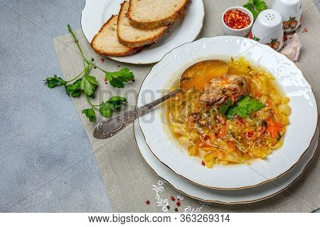 Cabbage Soup With Bull Tails.