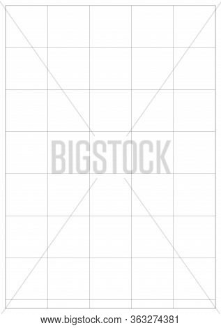 A5 Vector Paper Sheet For Notebook, Daily Planner, Copybook, Sketchpad. A5 Sheet With White Bounding