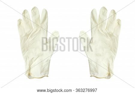 Rubber Gloves On A White Background