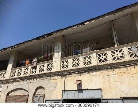Wall And Balcony Of A House In Africa