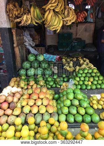 Fruits On A Market On The African Island Sansibar