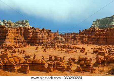 Scenic Utah state park Goblin Valley. Picturesque
