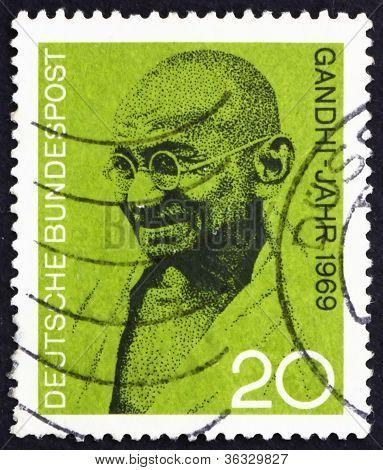 Postage stamp Germany 1969 Mahatma Gandhi