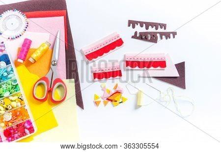 Cake Made Of Felt. Craft A Child.montessori Material