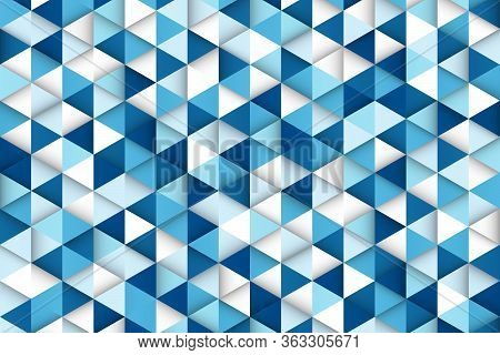 Abstract Gradient Blue Of Technology Triangle Pattern Design Background. Decorate For Ad,  Poster, T