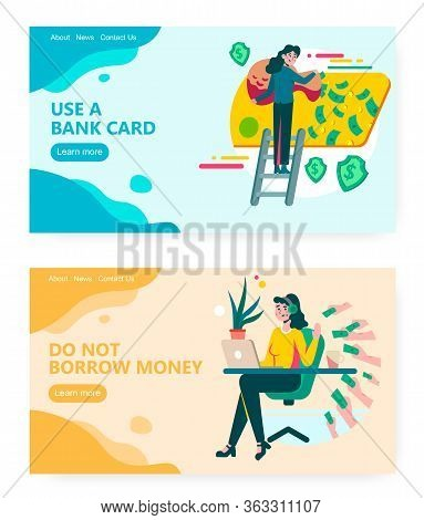 Hiring Talented Engineer Concept Illustration. Borrow Money, Take Loan, Banking, Bank Credit Card, M